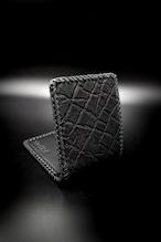 Item No.0391:Short Butterfly wallet/ Elephant BLACK / L-fin