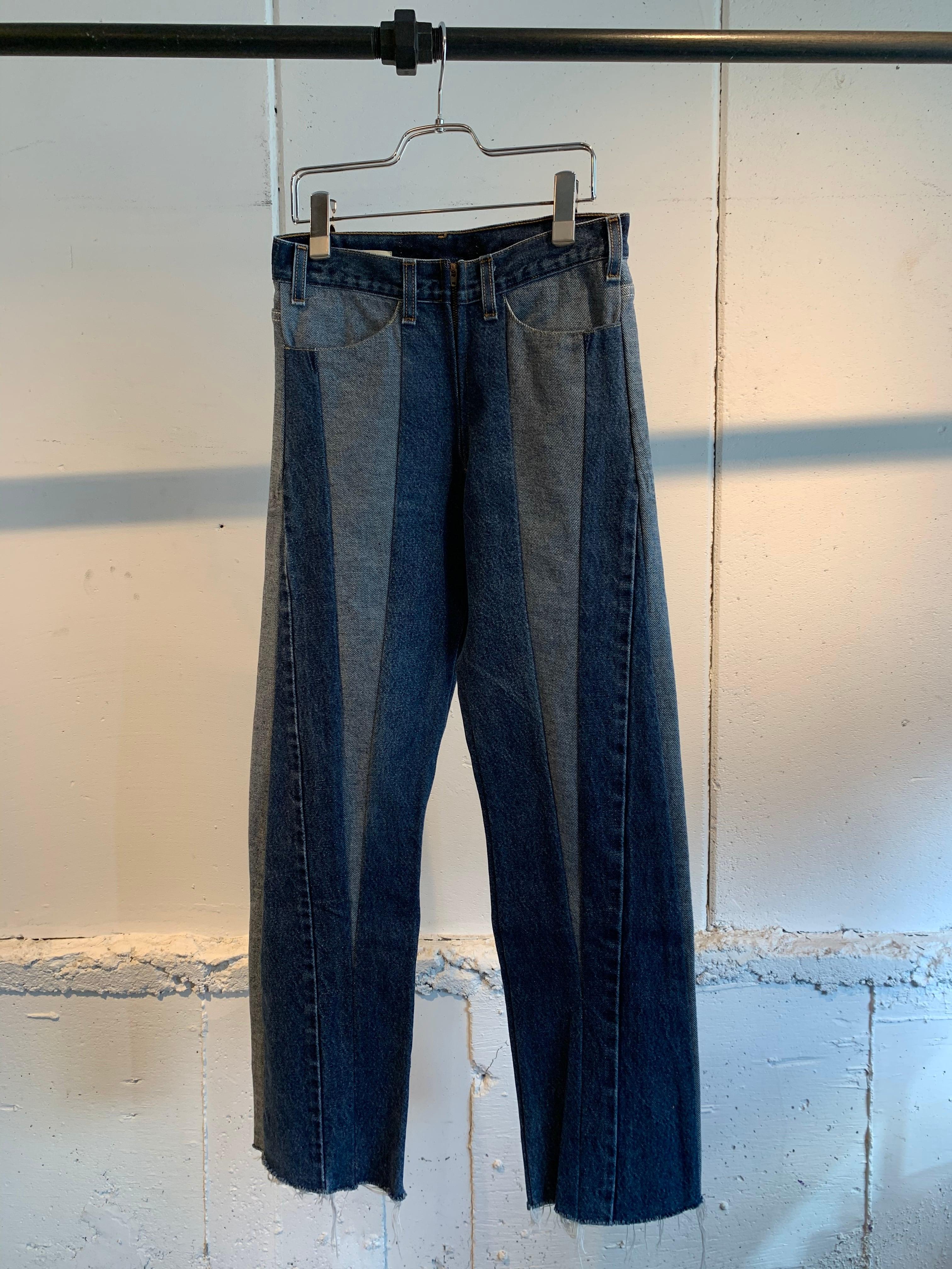 77circa circa make triangle cutback denim pants