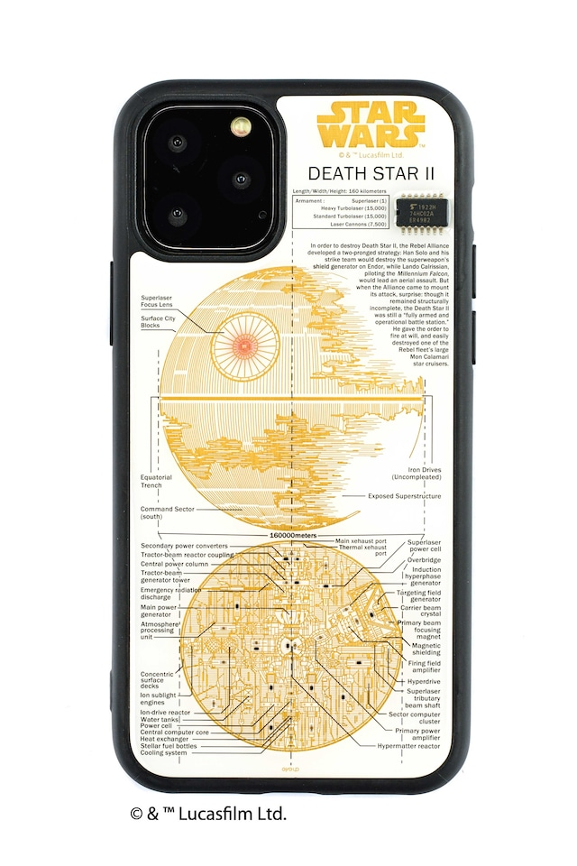 FLASH DEATH STAR 基板アート iPhone 11 Pro ケース  白【東京回路線図A5クリアファイルをプレゼント】