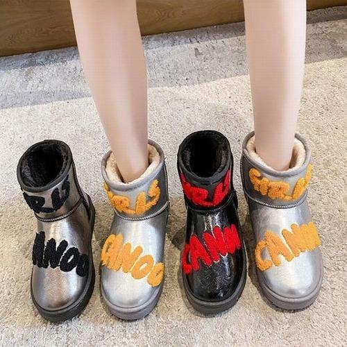 ファーブーツ ムートンブーツ 23.0〜25.0cm 韓国ファッション レディース ファー ブーツ もこもこ 防寒 防水 カジュアル ガーリー 631924399223