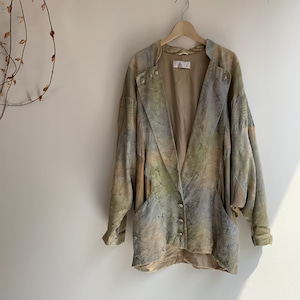 Vintage  green  shirt jacket