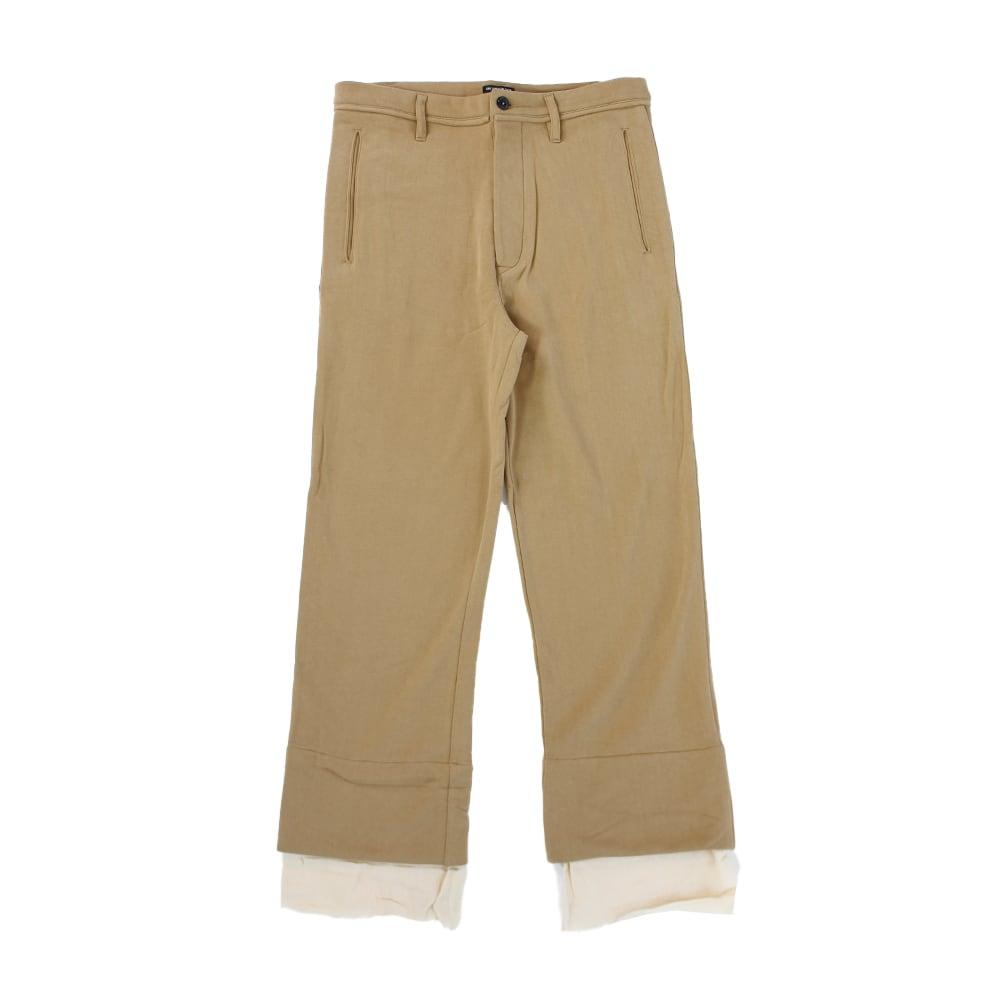 ANN DEMULEMEESTER Beige Cotton Trousers