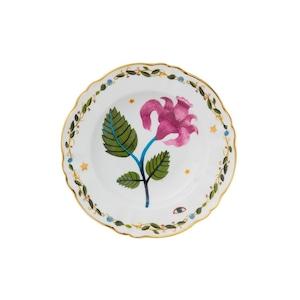 BITOSSI HOME - Deep Plate - PINK FLOWER