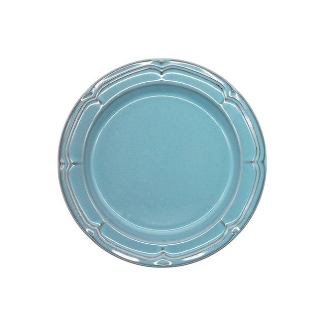 Koyo ラフィネ リムプレート 皿 約19.5cm アンティークブルー 15987106