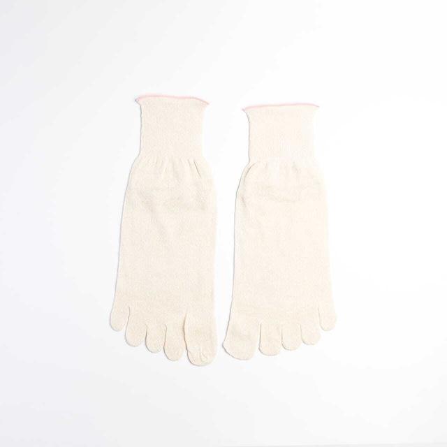 絹100%5本指ソックス【重ね履き靴下4足セット・3足セット 1枚目用】