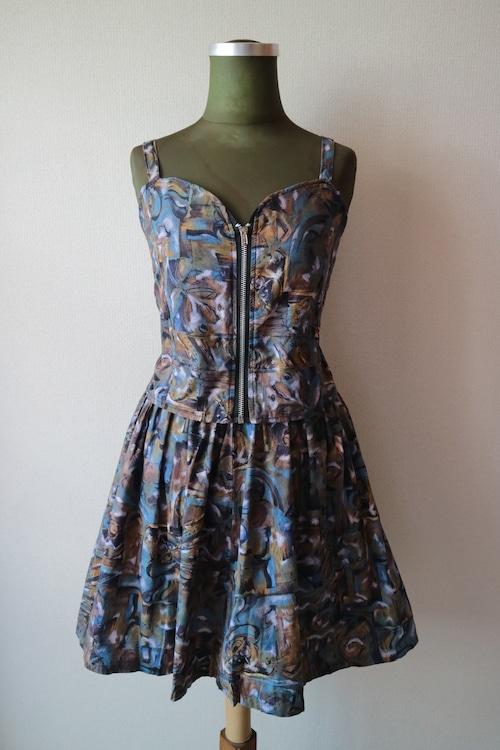 Summer dress set up -BLUE-