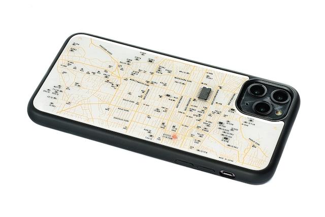 FLASH 京都回路地図 iPhone 11 ProMax ケース  白【東京回路線図A5クリアファイルをプレゼント】