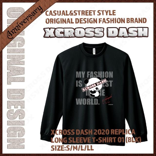 XCROSS DASH 2020 REPLICA Long sleeve T-SHIRT 01 (BLK) レプリカデザイン長袖Tシャツ