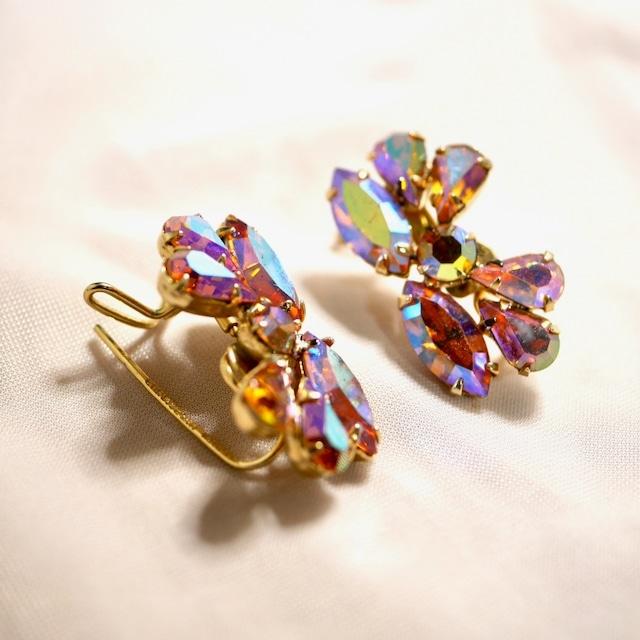 Wingback Pink AB earrings