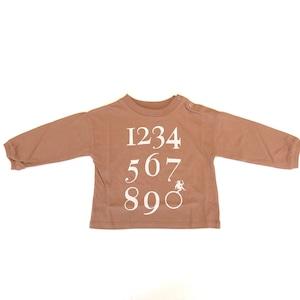 【21AW】eLfinFolk(エルフィンフォルク)Numbering pixie Long sleeve Tee(80/90/100/110/120/130)ロンT ロゴ