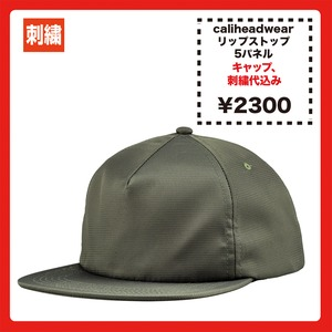 Cali Headwear  5Panel Unstructured Ripstop Nylon Cap (品番NY99)