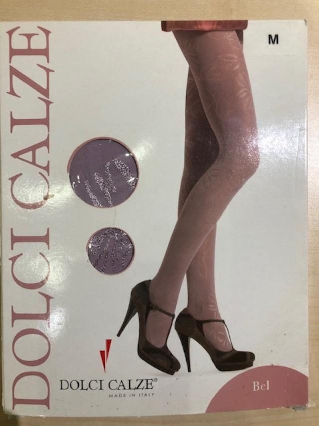 DolciCalze(ドルチカルゼ)イタリア製 05-2623 ジャガード無地タイツ