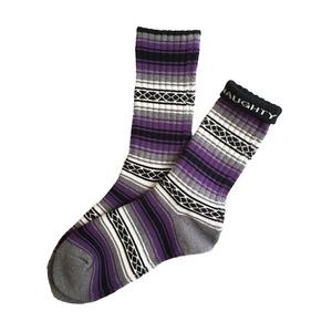 """FALSA -purple-"" Socks (limited edition by NAUGHTY)"