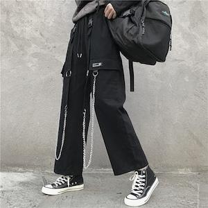 【ボトムス】無地韓国ファッションストリート系パンツ42919618