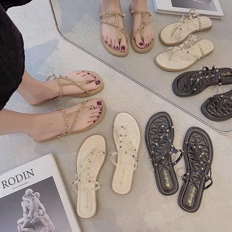 studs beach sandal 3color