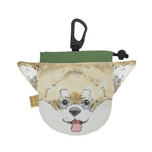 犬のウンチバッグ S 【チワワ】(クリーム色)  防臭生地 / デオドラント加工布使用