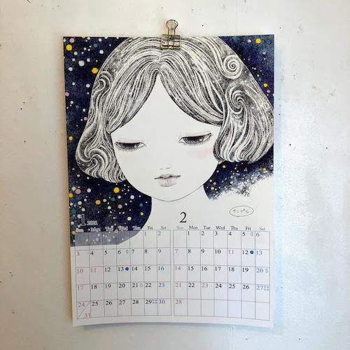 橋本京子「壁掛け2021カレンダー」