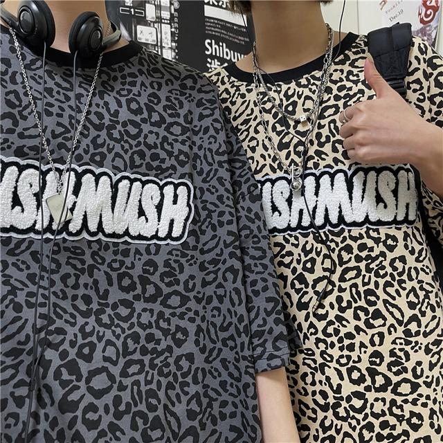 MUSHMUSH レオパードTシャツ YH7295