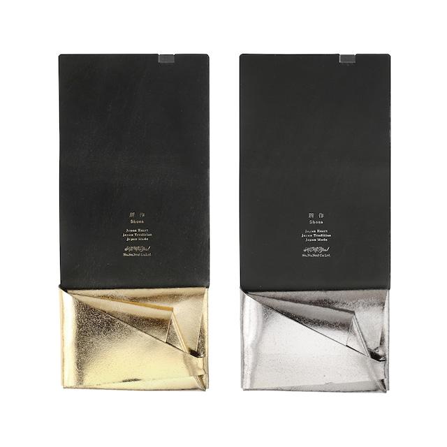 ボレロ ショートウォレット1.0 シルバー&ゴールド  (×ブラック)