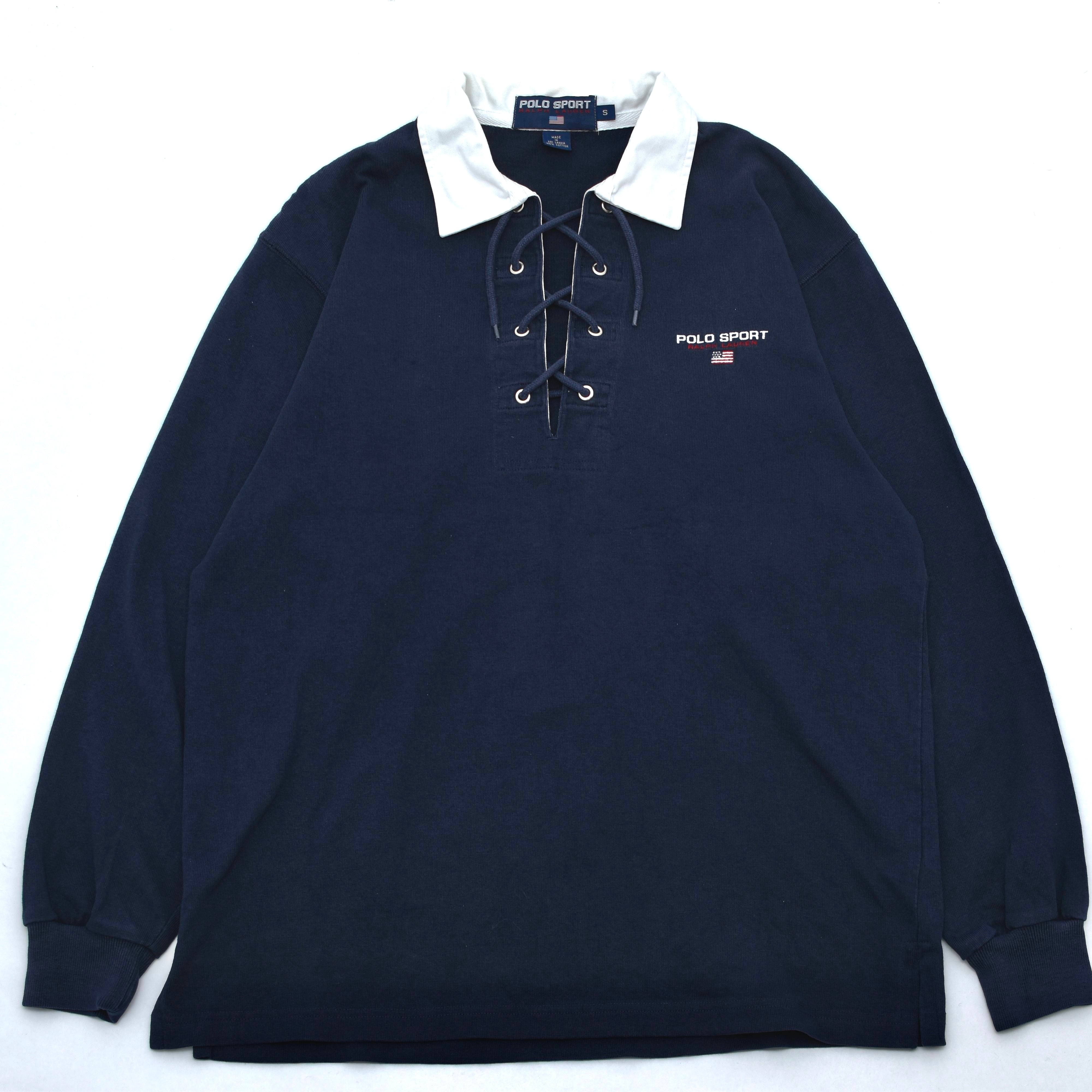 POLO SPORT lace up rugby shirt