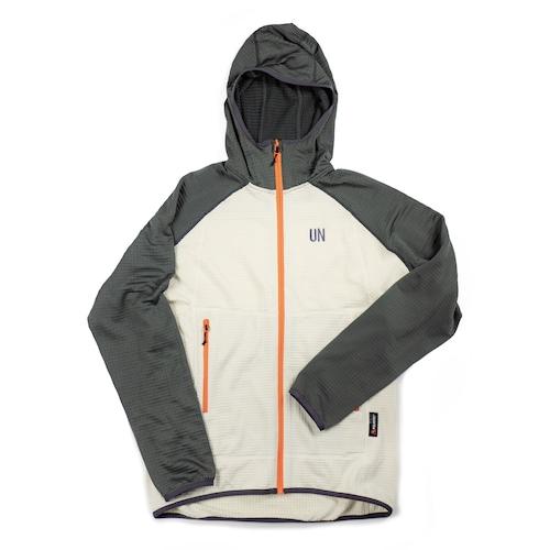 UN2100 Light weight fleece hoody / Charcoal : Cream