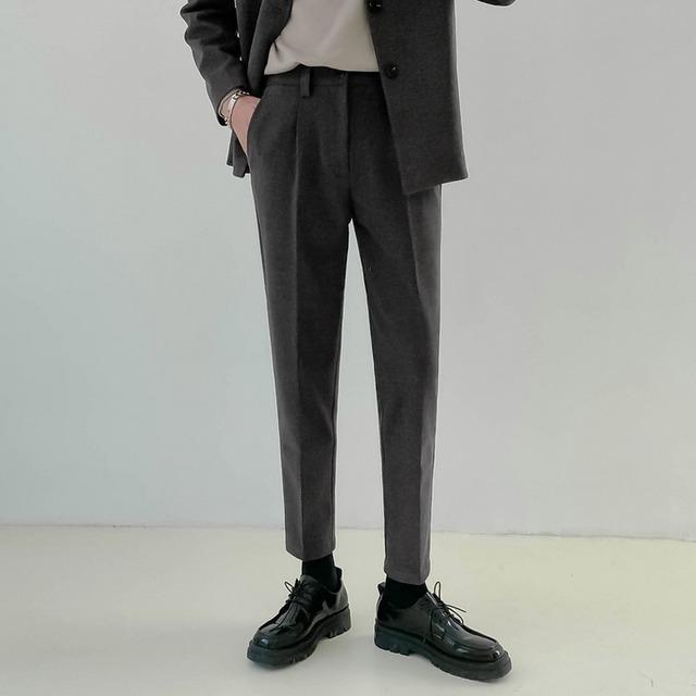 Thick wool suit setup pants   b-547