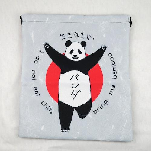 大阪のあの看板をオマージュ?「クリコパンダ」の防水ナップサック