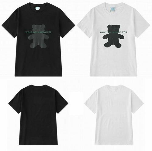 【★送料無料★】 2カラー ユニセックス クマプリント Tシャツ 韓国ファッション メンズ レディース 半袖 ロゴ ストリート系 DCT-589348646452