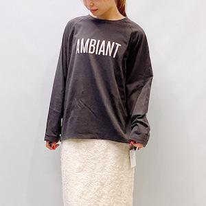 """MICA&DEAL(マイカアンドディール) AMBIANT""""ロゴラグランT-shirts 2021秋冬新作[送料無料]"""