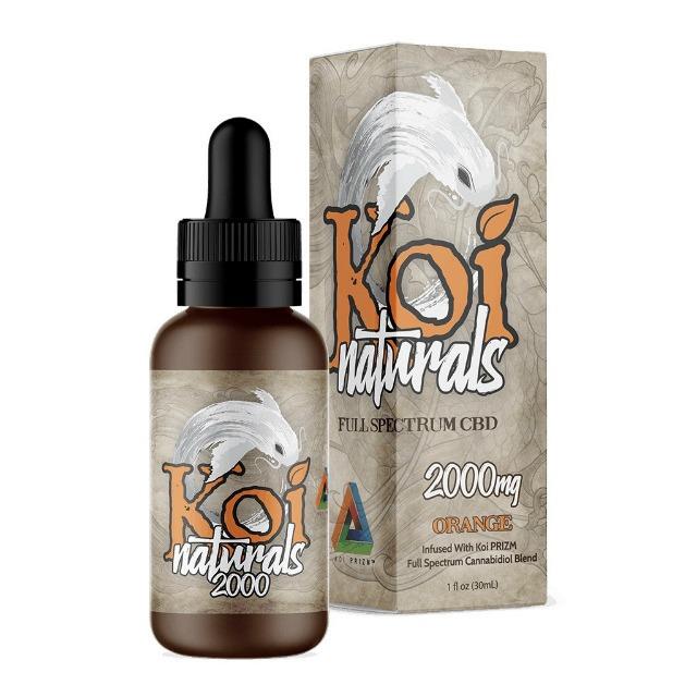 『舌下で摂取』Koi Naturals CBDオイル Orange味 30ml / 2000mgCBD 【Koi CBD】