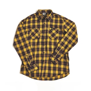【Banana Bait】Banana Check Shirts / Yellow
