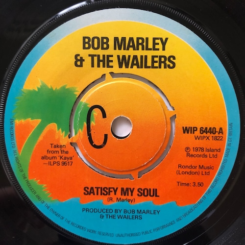 Bob Marley & The Wailers - Satisfy My Soul【7-20670】