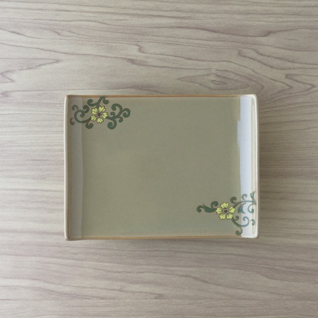 【有田焼】金茶釉古代模様 銘々皿【在庫限り】