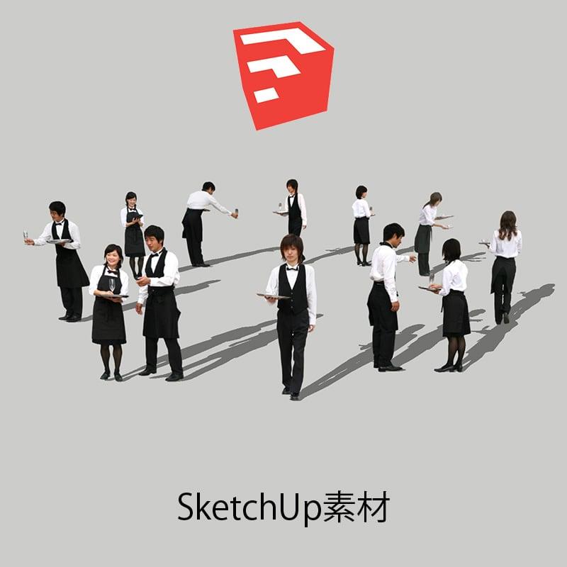人物SketchUp 4p_set023 - 画像1