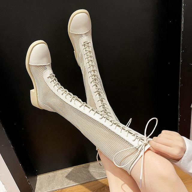 【シューズ】個性的網ファッションレディースブーツ49088298