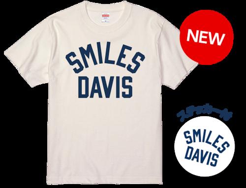 SMILES DAVIS Tシャツ(ステッカー付)