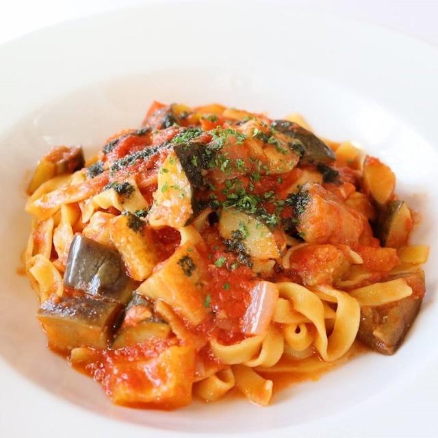 プロヴァンス風 季節野菜のトマトパスタセット(ラタトゥイユソースと生パスタの1食セット)