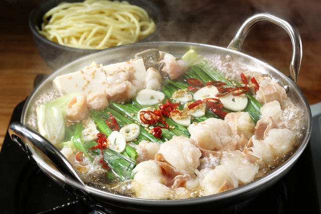 お肉屋さんのもつ鍋セット(3〜4人前)【醤油味】