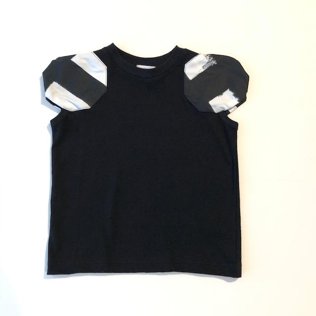 【21SS】フランキーグロウ ( frankygrow ) DISTORTED CIRCLR SLEEVE TEE[ S / M / L ]black‐white×BK Tシャツ トップス