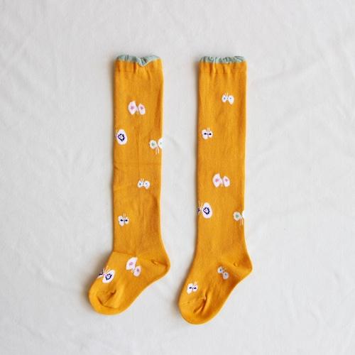 《mina perhonen》hana hane ニーハイソックス / yellow / 13-21cm