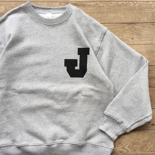 """【ラスト1】JS """"J"""" レタード ヘヴィーウェイト スウェット/グレー"""