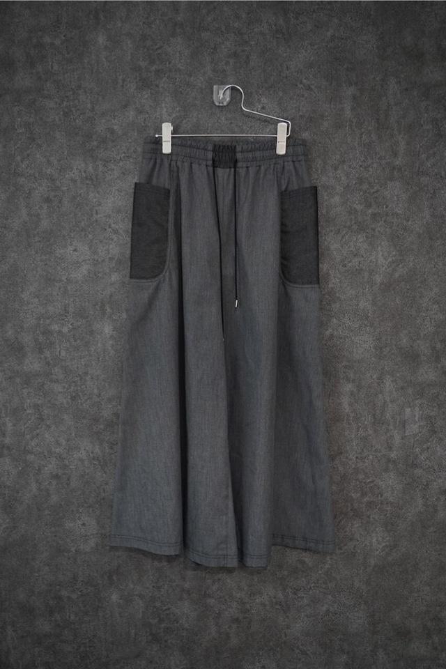 カクレミ denim wide pants