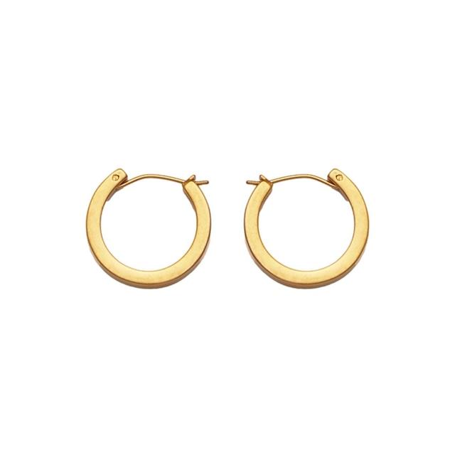 Matte gold hoop pierce S ピアス
