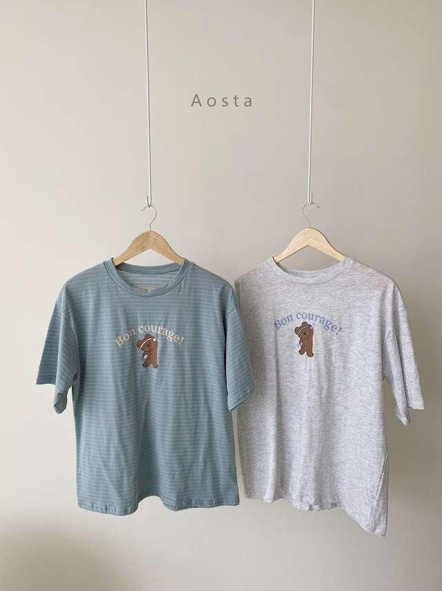 «sold out»«ママサイズ» Aosta bear T shirt 2colors ベアーT