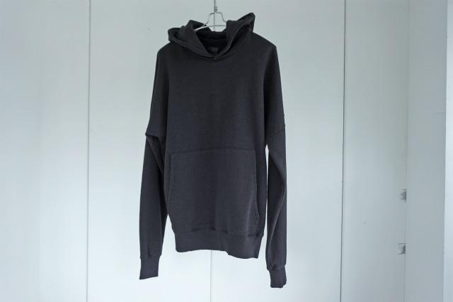 thom krom / Drop shoulder hoodie / BROWN