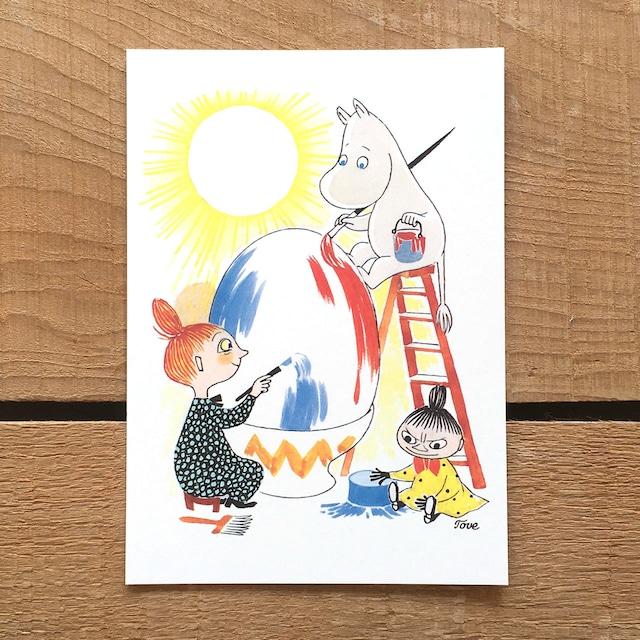 ポストカード「ムーミン谷のイースター(イースターエッグ)」