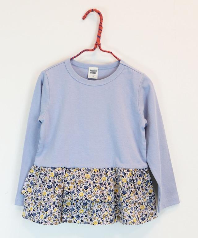 裾フリルロングTシャツ