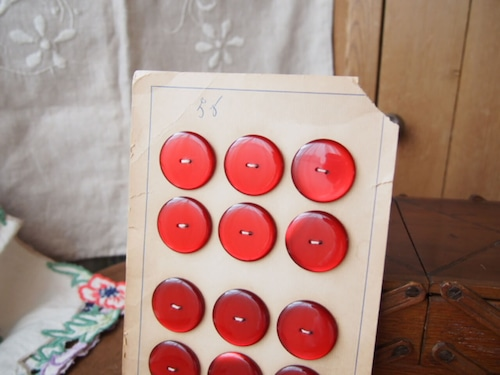 イギリスアンティーク ボタンシート(12個)