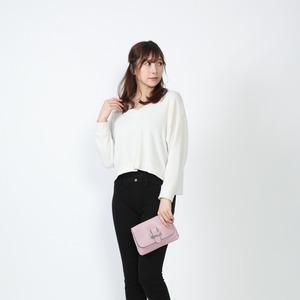 【イタリア製】 ショルダーバッグ ピンク