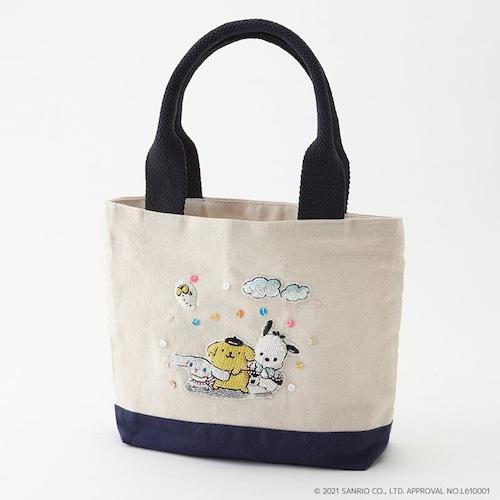 刺繍ランチミニトート サンリオキャラクターズ/sanriocharacters
